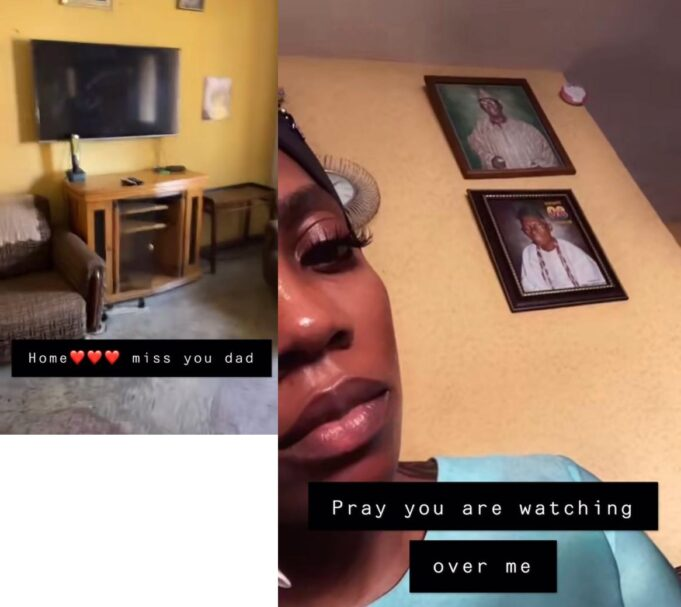 """""""With all the money you have, you could not renovate your father's house"""" – Fans blast Tiwa Savage after she shared a video of her late father's house"""