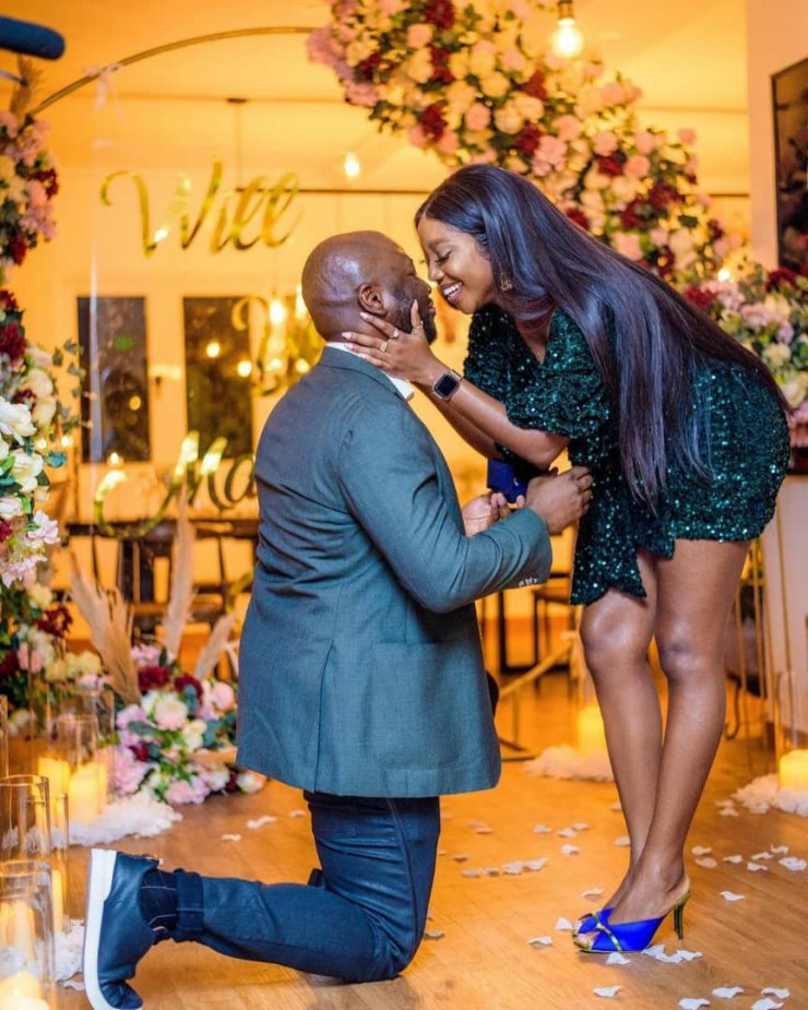Actress Ini Dima-Okojie gets engaged to her fiance who she met via her Instastories (photos)