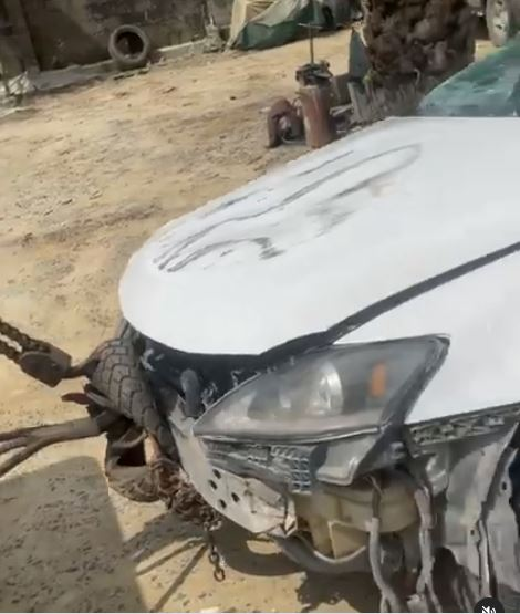 Comedian, Oluwadolarz grateful to God as he survives a ghastly car accident (Video)
