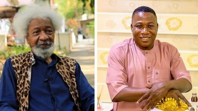 Sunday Igboho deserves FG's apology, stop chasing him like criminal-- Soyinka