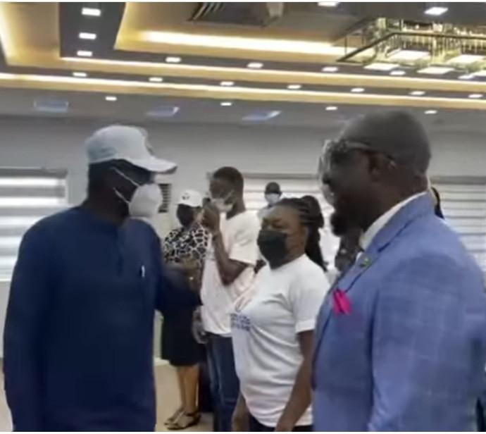 Watch Gov. Sanwo-Olu's reaction after meeting Jim Iyke (video)
