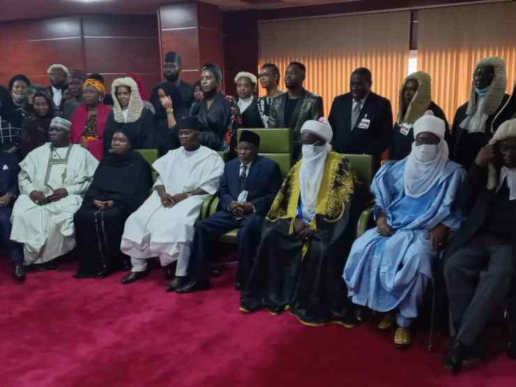 PHOTO NEWS: CJN Tanko Muh'd, Gummi Emir attend valedictory session for Justice Moses Bello