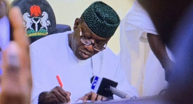 Fayemi Signs Drugs and Health Mgt. Agency Bill Into Law