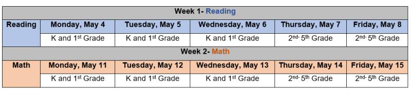 iReady Schedule