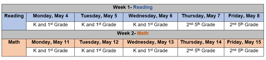 iReady Schedule