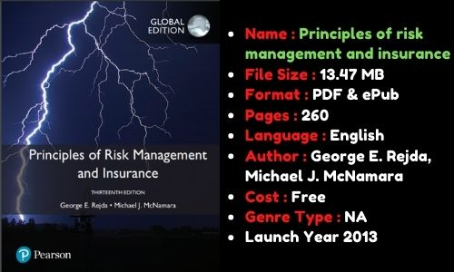 Principles of risk management and insurance 13th edition PDF