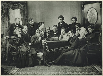 Anton Chekhov reading his play The Seagull to the company of the Moscow Art Theatre.