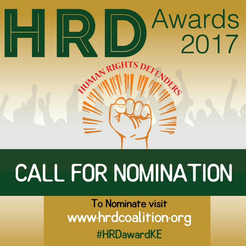 Human Rights Defender Awards 2017 Call For Nomination