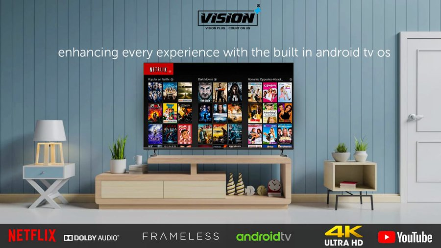 Vision Plus launches first-ever frameless E-LED TV in Kenya