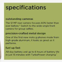 Moto G (5th Gen) G5 full specifications