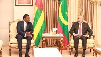 صورة الرئيس التوغولي يصل نواكشوط بدعوة من رئيس الجمهورية