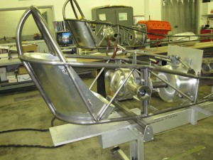 Some of the custom fabrication done to build these dragsters.