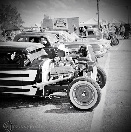 Lined up and ready to run at the HAMB Drags at MO-KAN Dragway.