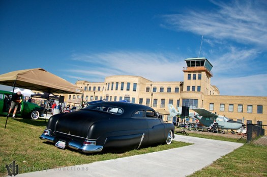 Mick's Merc at the Stray Kat Starliner at the Kansas Aviation Museum