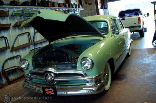 1 clean 1950 Ford 4 Door.