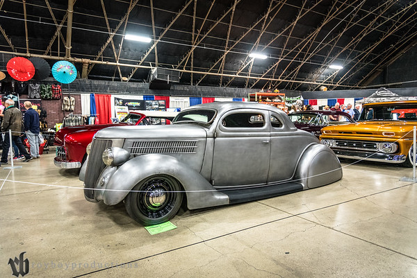 1936; 2017; 5 Window Coupe; CA; California; Ford; GNRS; Grand National Roadster Show; Pomona; Ron Hernandez 1936 Ford 5 Window Coupe owned by Ron Hernandez