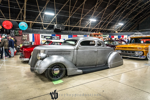 2017; GNRS; Friday; 195; 1936; 5 Window Coupe; CA; California; Ford; Grand National Roadster Show; Pomona; Ron Hernandez 1936 Ford 5 Window Coupe owned by Ron Hernandez