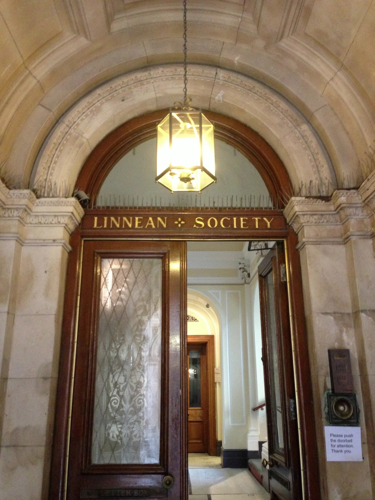 main entrance, Linnean Society of London