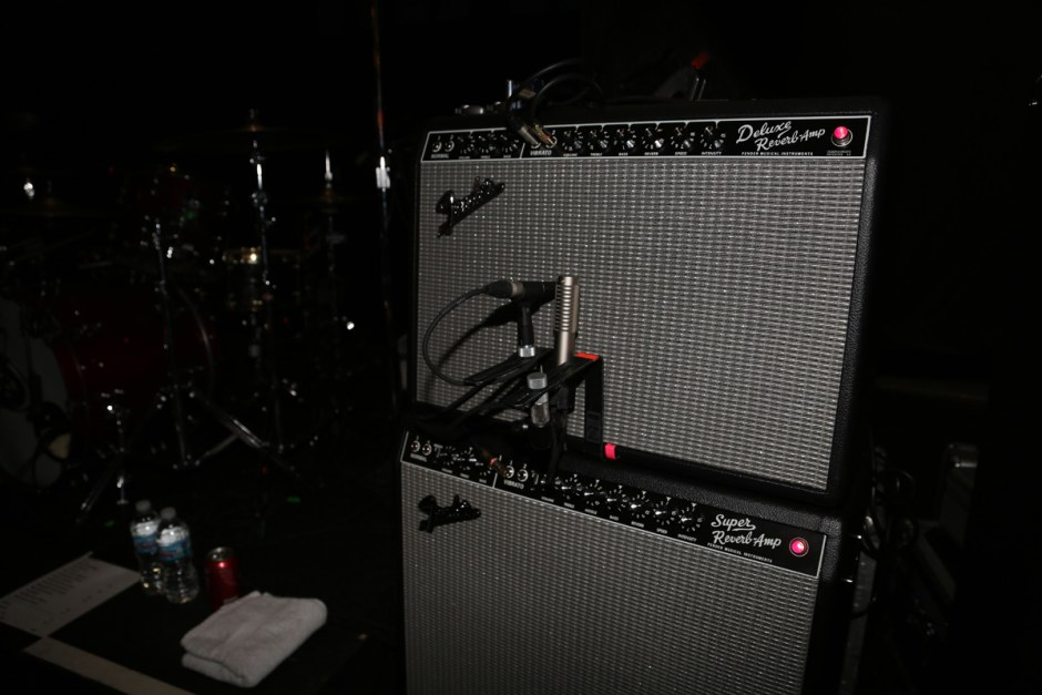 R-121 on Johnny Marr's Fender Deluxe