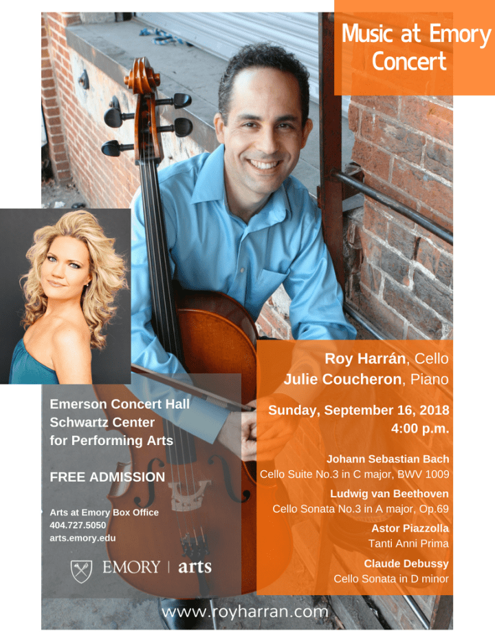 Music at Emory Concert with Cellist Roy Harran