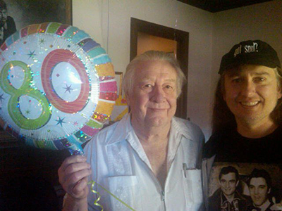 Jack Clement's 80th birthday! Jack was the engineer and producer at Sun Records Studio back in the 1950's. A great friend to the Orbison's and Cash's. Wrote some Johnny Cash and Roy Orbison songs. did a whole lot more great work in his long and fun life. We love Cowboy Jack!