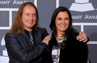 Roy Orbison Jr and Barbara at the Grammy Awards