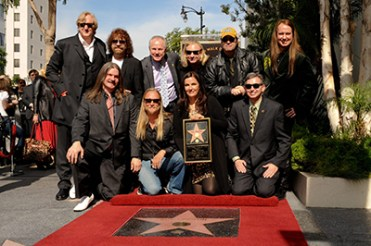 Roy Orbison's family (wife Barbara, sons:Wesley, Roy Jr, Alex) and friends (T Bone Burnett, Jeff Lynne, Joe Walsh, Dan Akroyd) at the Roy Orbison Hollywood Star induction at Hollywood Walk of Fame. January 29th, 2010