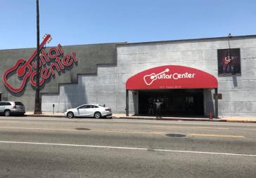 Roy Orbison Jr outside Guitar Center Los Angeles