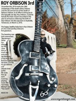 Roy Orbison 3 Birth Announcement