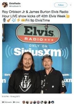 Roy Orbison Jr and James Burton in Elvis Radio!