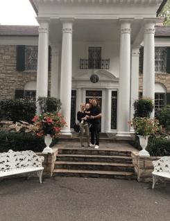 Roy Orbison Jr Family at Graceland