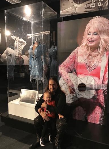 Dolly Parton exhibit at Graceland. Roy Orbison Jr & Roy Orbison 3