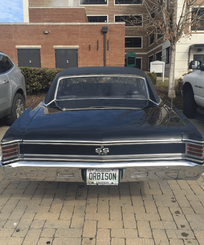"1967 Chevelle with ""ORBISON"" license plate!"