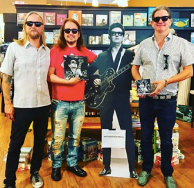Alex Orbi Orbison, Me, Roy Orbison and Wesley Orbison at a book signing event in Nashville at Parnassus Books !