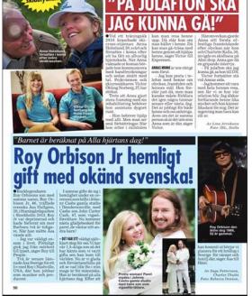 Swedish magazine Hänt wrote an article about me and Åsa Hallgren Orbisons wedding!