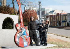 Me, Roy Orbison Jr, my wife Åsa Hallgren Orbison and our son Roy Orbison 3 by RCA Studio B and the ELVIS PRESLEY & Roy Orbison Guitars in Nashville, Tennessee! In February we will be 4 in the family!