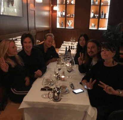 Just had the greatest dinner with Magdalena Graaf Per Gessle of Roxette Filip Larsson Jonas Åkerlund and Åsa Gessle !!! Love Sweden!
