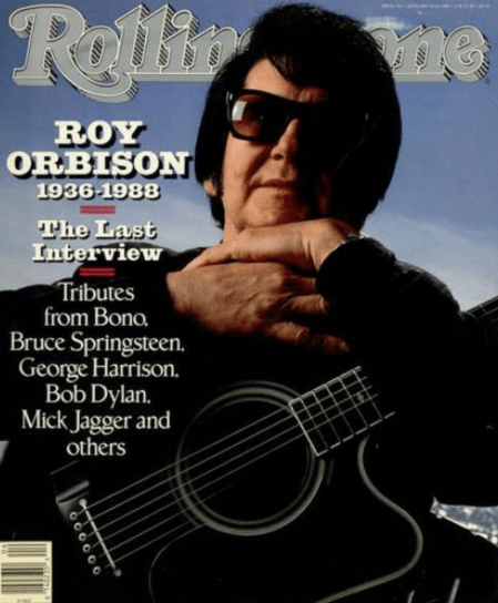 Rolling Stone magazine with Roy Orbison