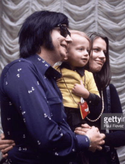 Dad & Mom & Me. I was about 2 years old. I remember because of that yellow shirt. Yellow was my favorite color. I wanted to wear that shirt everyday. (Roy Orbison, Barbara Orbison, Roy Orbison Jr)