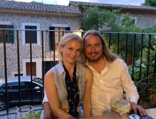 Asa & I having a night out in Deia, Mallorca, Spain!