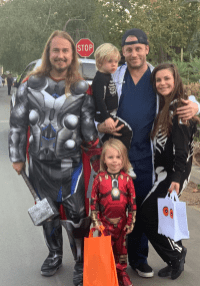 Happy Halloween from Thor & Iron Man, 2 Skeletons & Dr. Chucky!