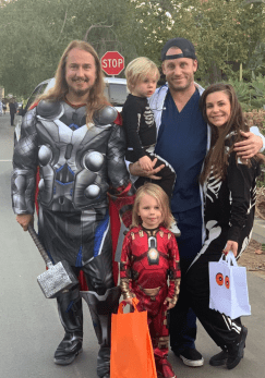 Happy Halloween from Thor & Iron Man, 2 Skeletons & Dr. Chucky!‬