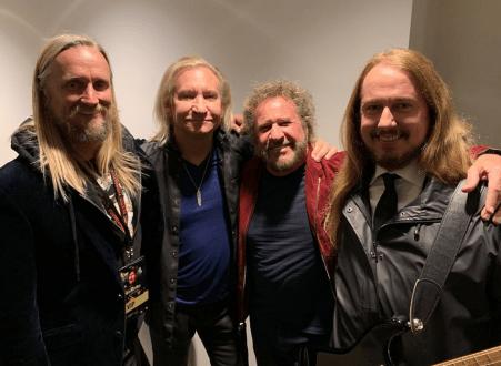 Alex Orbi Orbison , Joe Walsh, Sammy Hagar (The Red Rocker), Roy Orbison Jr at the James Burton Fest 2019!