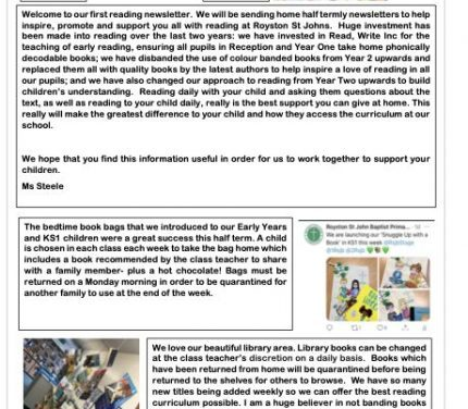Reading Newsletter May 2021