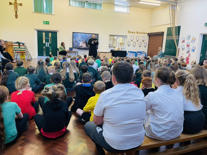 Our first collective worship with Father Craig today as we learn more about our local community.