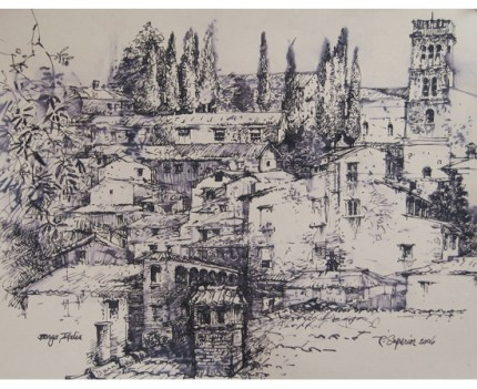 "Roy Superior, ""View of Barga"""