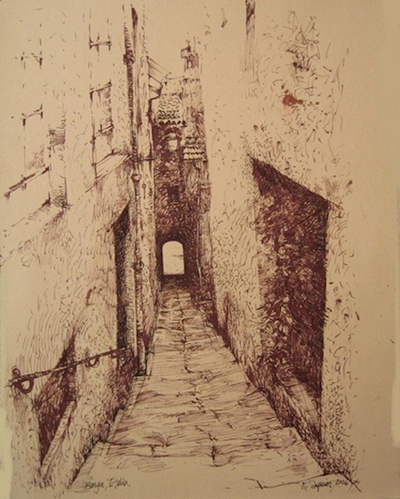 "Roy Superior, ""Street in Barga"""