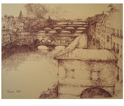 "Roy Superior, ""Arno Bridges, Firenze"""