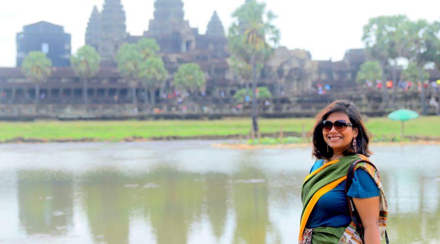 Exploring Angkor Wat In A Saree