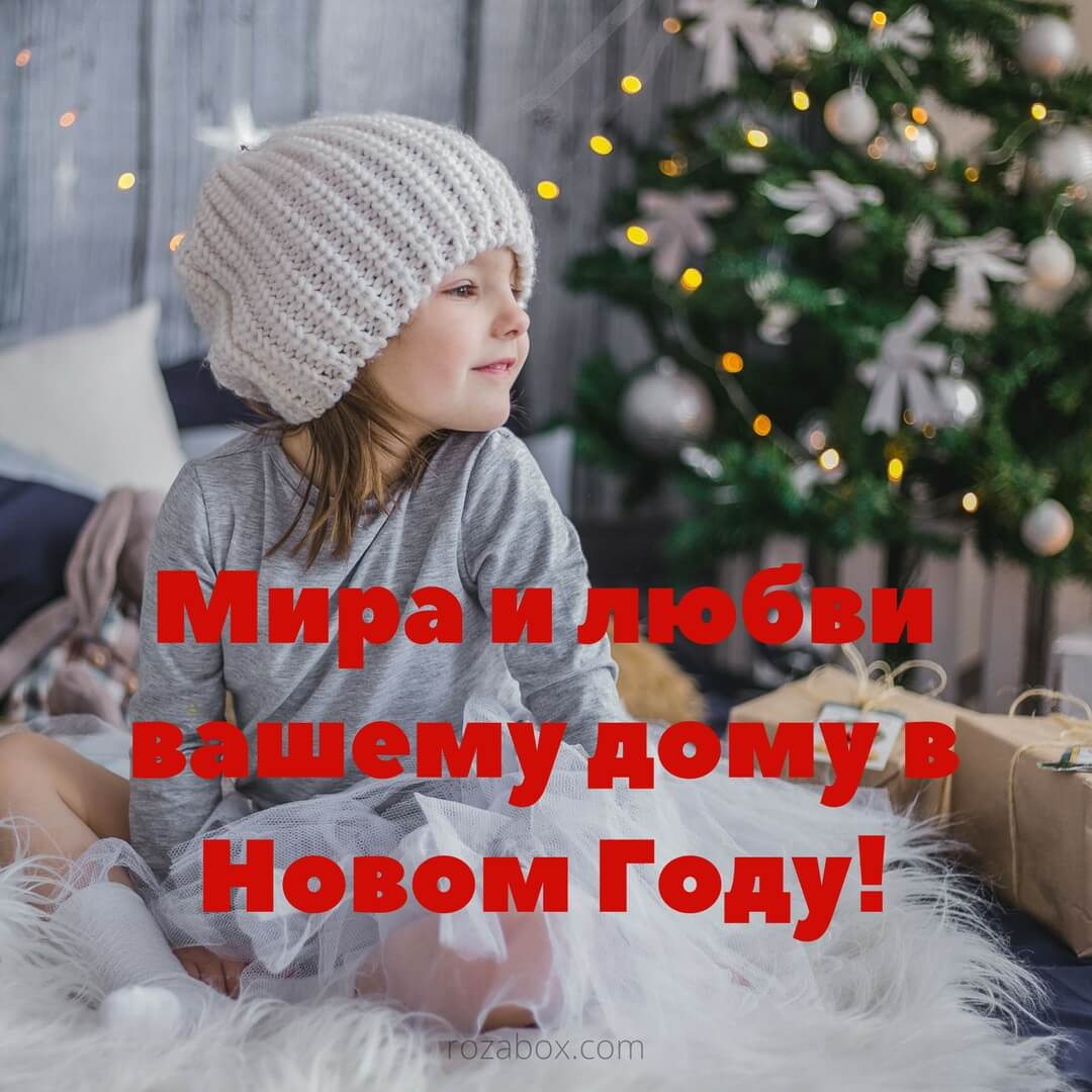 Красивое праздничное пожелание - RozaBox.com